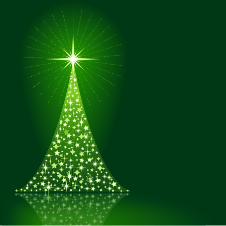 Beautiful christmas tree vector illustration. In EPS format