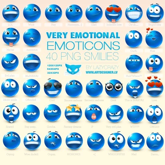 funny emoticons. Vector Funny Emoticons middot; Blue