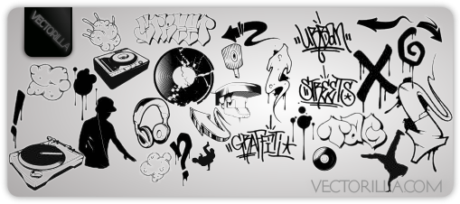 Graffiti & DJ Vector Arts