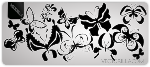 vector butterflies