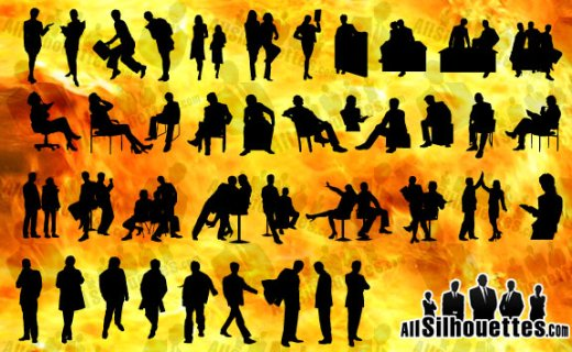 business-people-silhouettes