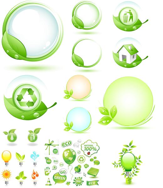 ecology vector graphics