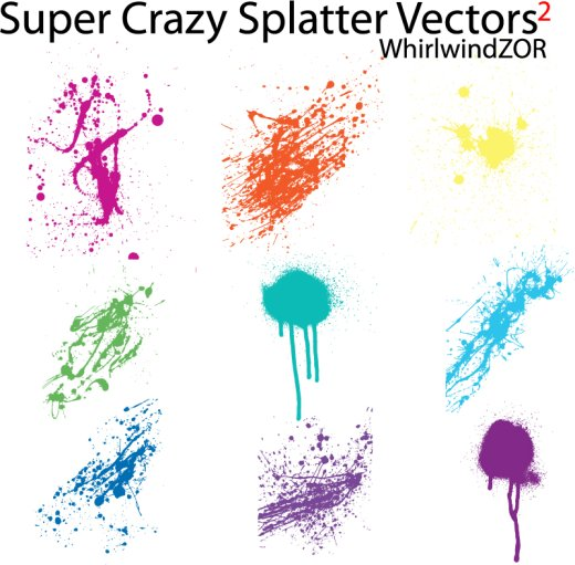 splatter vectors 2