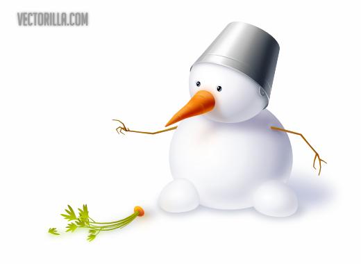 vector-snowman