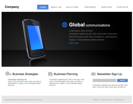 vector website template 1