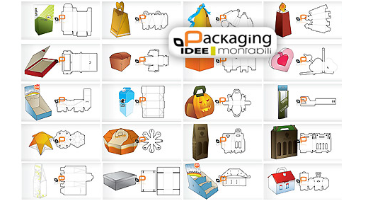Vector pack of packaging designs