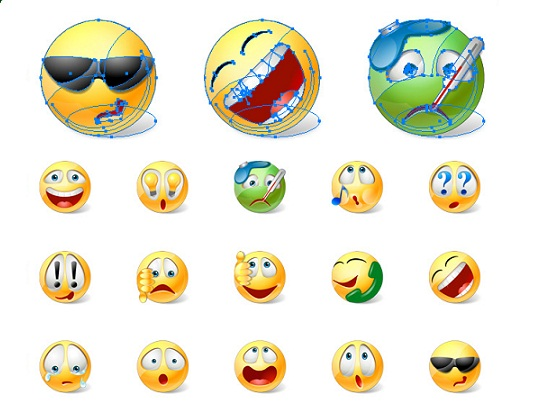 vector emoticons moving adult emoticons